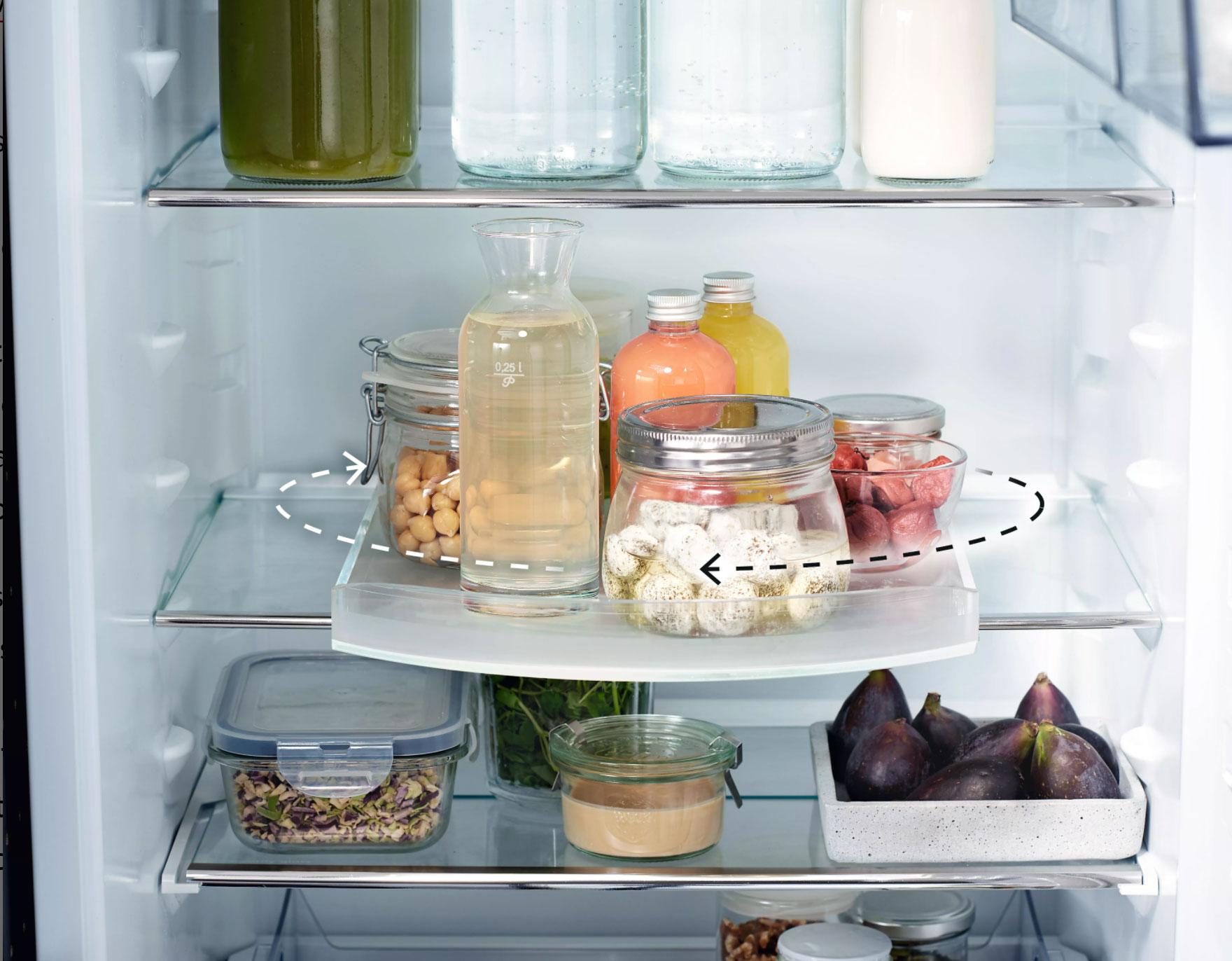 ظرفهای چرخشی در یخچال