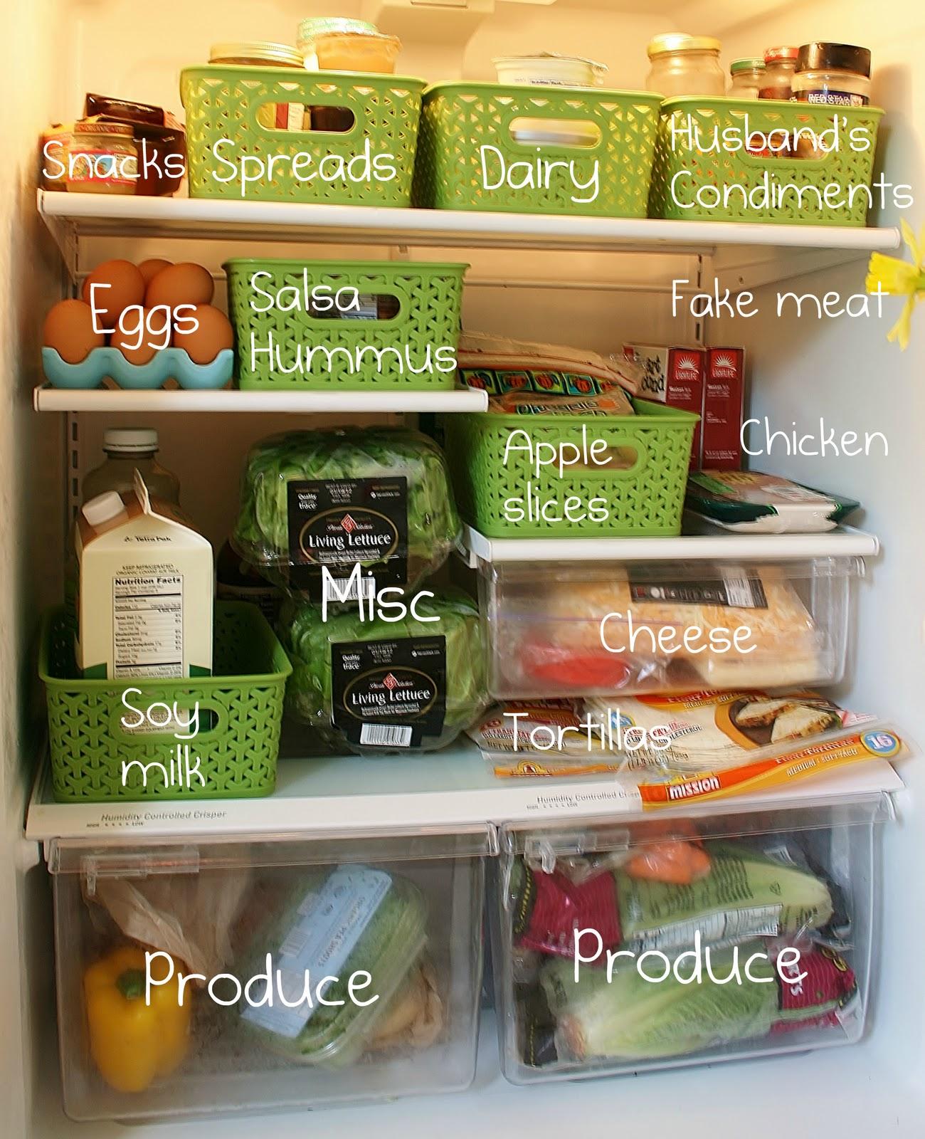 گروه بندی مواد غذایی در یخچال